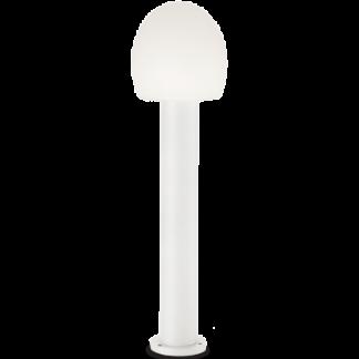CONCERTO Bedlampe i aluminium og plast H83,5 cm 1 x E27 - Hvid/Hvid