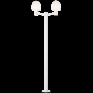 CONCERTO Dobbelt Bedlampe i aluminium og plast H220,5 cm 2 x E27 - Hvid/Hvid