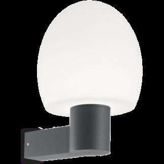 CONCERTO Væglampe i aluminium og kunststof H33 cm 1 x E27 - Antracit