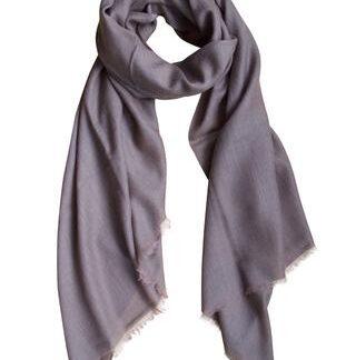 Cashmere tørklæde i mørk taupe
