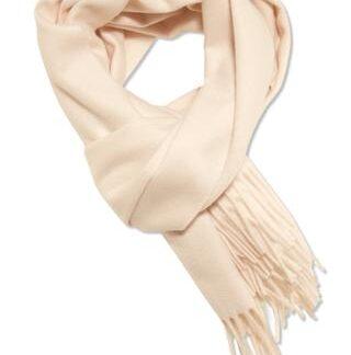 Cashmere tørklæde i smuk crème farve