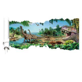 Dinosaurus wallsticker. Besøg af T-Rex? 90x50cm.