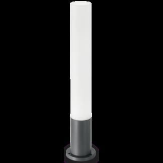 EDO Bedlampe i aluminium og polycarbonat Rund H80 cm 1 x GX53 - Antracit/Hvid