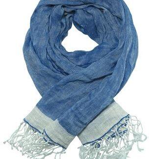 Eksklusivt blåt tørklæde/sjal