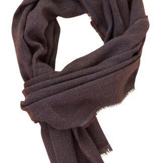Eksklusivt mokka cashmere tørklæde