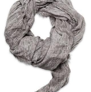 Eksklusivt oversized grå/beige tørklæde