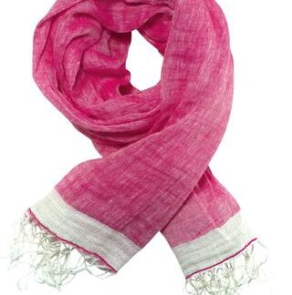 Eksklusivt pink tørklæde/sjal