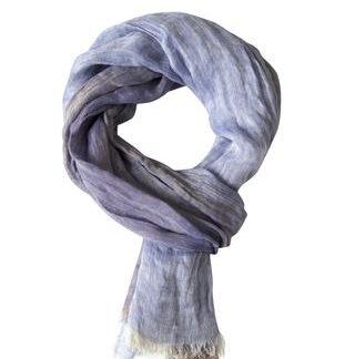 Eksklusivt stort blåt tørklæde