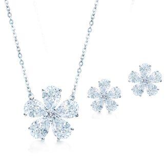 Flora gavesæt sølv
