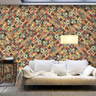 Fototapet fra Artgeist XXL - Rainbow Mosaic, mulitfarvet print (280x500) 500x280