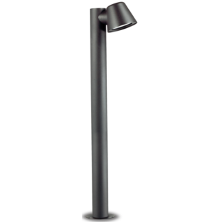 GAS Bedlampe i aluminium og glas H80 cm 1 x GU10 - Antracit/Klar
