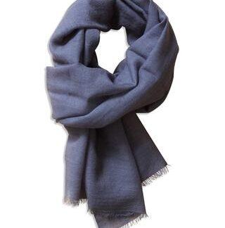 Gråt tørklæde i 100% fin uld