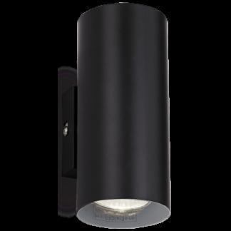 HOT Væglampe i metal H18 cm 2 x GU10 - Sort