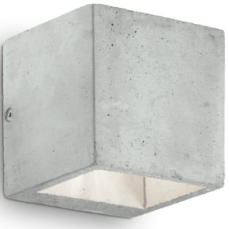 KOOL Væglampe i beton H10 cm 1 x G9 - Grå