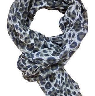 Leopard tørklæde i douce farver