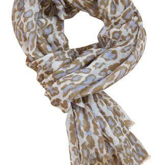 Leopard tørklæde i pastel farver
