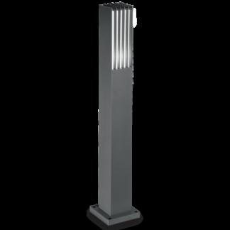 MARTE Bedlampe i aluminium og akryl H80,5 cm 1 x E27 - Antracit/Hvid