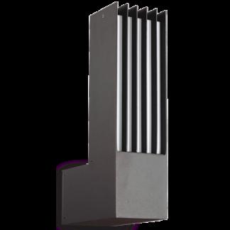 MARTE Væglampe i aluminium H33 cm 1 x E27 - Antracit