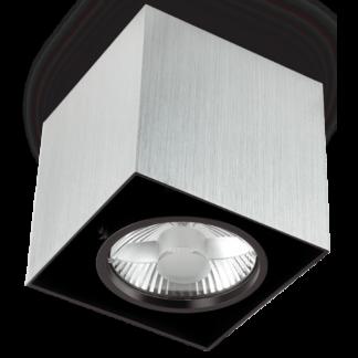 MOOD Påbygningsspot i metal 15 x 15 cm 1 x GU10 - Aluminium/Sort