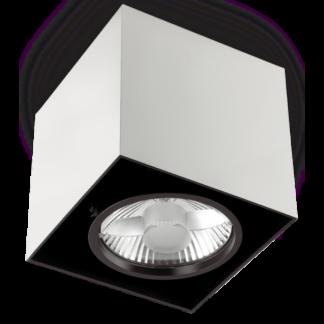 MOOD Påbygningsspot i metal 9 x 9 cm 1 x GU10 - Hvid/Sort
