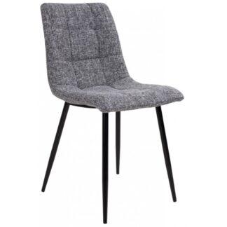 Middelfart spisebordsstol H86 cm polyester - Sort/Grå