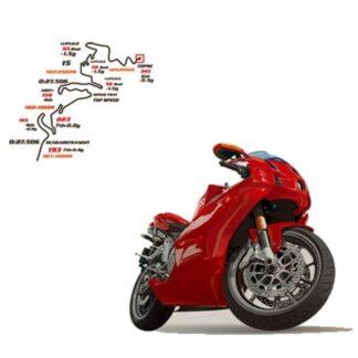 Motorcykel wallsticker. 70x50cm.