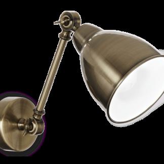 NEWTON Væglampe i metal L44 cm 1 x E27 - Antik messing