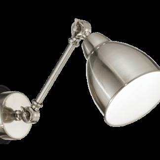 NEWTON Væglampe i metal L44 cm 1 x E27 - Satineret nikkel