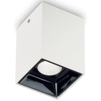 NITRO Påbygningsspot i metal 5,5 x 5,5 cm 1 x 10W LED - Mat hvid