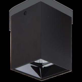 NITRO Påbygningsspot i metal 7 x 7 cm 1 x 15W LED - Mat sort