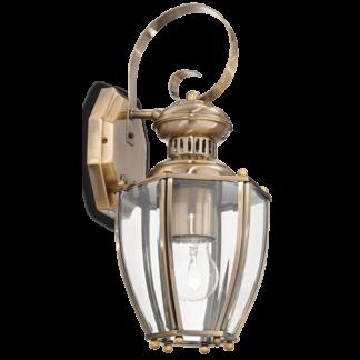 NORMA Væglampe i metal og glas H28 cm 1 x E27 - Antik messing