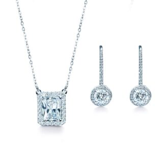 Oxford halo gavesæt sølv
