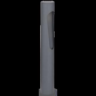 POLARIS Bedlampe i aluminium og glas H60,5 cm 1 x G9 - Antracit/Klar