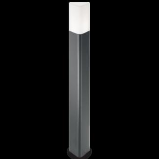 PULSAR Bedlampe i aluminium og polycarbonat H80 cm 1 x E27 - Antracit/Hvid