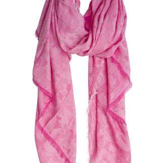 Rosa tørklæde i ekstra blød kvalitet