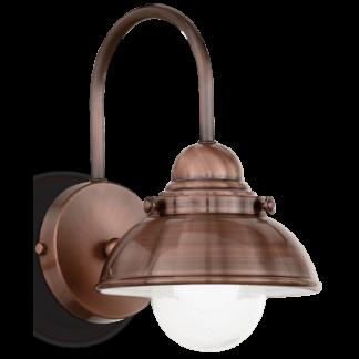 SAILOR Væglampe i metal H32 cm 1 x E27 - Antik kobber