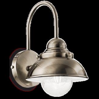 SAILOR Væglampe i metal H32 cm 1 x E27 - Antik messing