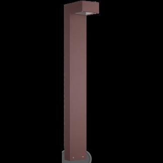 SIRIO Bedlampe i aluminium og glas H80 cm 2 x G9 - Brun/Klar