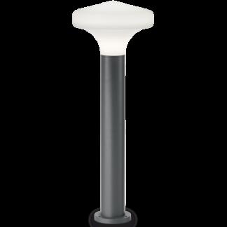 SOUND Bedlampe i aluminium og plast H80 cm 1 x E27 - Antracit/Hvid