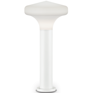 SOUND Bedlampe i aluminium og plast H80 cm 1 x E27 - Hvid/Hvid