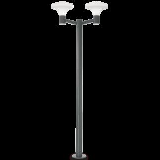 SOUND Dobbelt Bedlampe i aluminium og plast H217 cm 2 x E27 - Antracit/Hvid