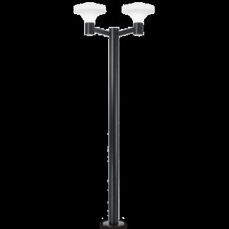 SOUND Dobbelt Bedlampe i aluminium og plast H217 cm 2 x E27 - Sort/Hvid