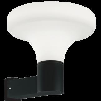 SOUND Væglampe i aluminium og kunststof H29,5 cm 1 x E27 - Sort