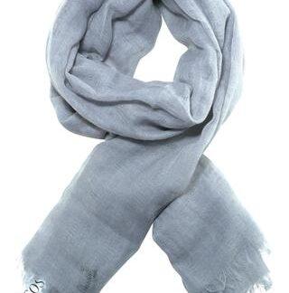 Smukt vævet gråt tørklæde