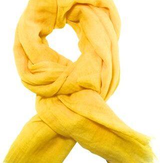 Solgult tørklæde i blød uld