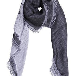 Sort/hvidt dobbeltvævet tørklæde i bomuld