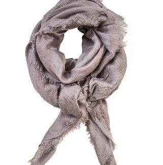 Støvet rosa tørklæde i cashmere blend