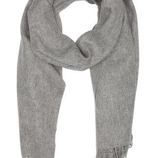 Stort tørklæde i grå melering