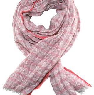 Ternet rosa tørklæde i unikt design og kvalitet