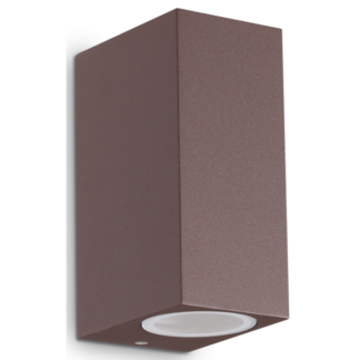 UP Dobbelt Væglampe i aluminium H15 cm 2 x G9 - Brun